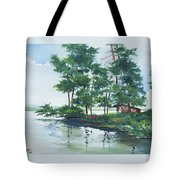 Big Wolf Lake Tote Bag