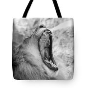 Big Yawn  Black And White Tote Bag