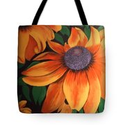 big yellow I Tote Bag