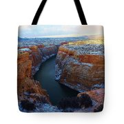 Bighorn Canyon In Winter Tote Bag