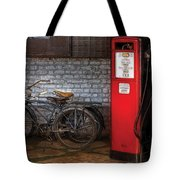 Bike - Two Bikes And A Gas Pump Tote Bag