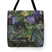 Bike And Bush Tote Bag