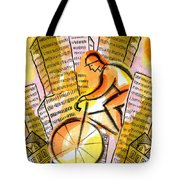 Bike And The City Tote Bag