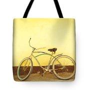 Bike And Yellow Wall Tote Bag