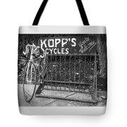 Bike At Kopp's Cycles Shop In Princeton Tote Bag