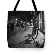 Bike Between Lights And Shadows, Netherlands Tote Bag