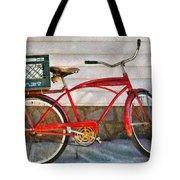 Bike - Delivery Bike Tote Bag by Mike Savad