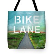 Bike Lane- Art By Linda Woods Tote Bag