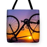 Bike On Seawall Tote Bag