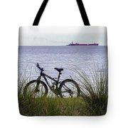 Bike On The Bay Tote Bag