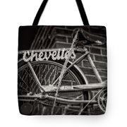 Bike Over Chevelles Tote Bag