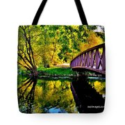 Bike Path Bridge Tote Bag