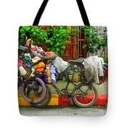 Bike Repair Shop On Wheels Tote Bag