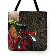 Bike Resting Tote Bag