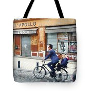 Bike Ride In Bordeaux By The Apollo Tote Bag