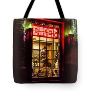 Bike Shop Window Tote Bag
