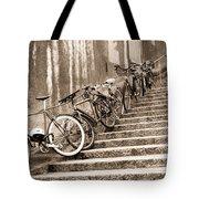 Bike Stairs Zurich Tote Bag