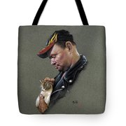 Biker With Kitten Discount Summer Sale Tote Bag