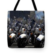 Bikes In Blue Tote Bag