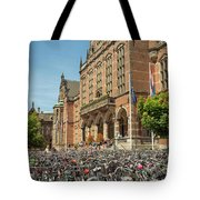 Bikes In Front Of Dutch University Tote Bag