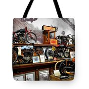 Bikes On A Wall Tote Bag
