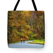 Biking On The Parkway Tote Bag