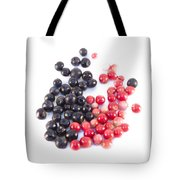 Bilberries And Cowberries Isolated Tote Bag