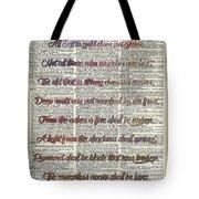 Bilbo Baggins Quote Vintage Art Tote Bag