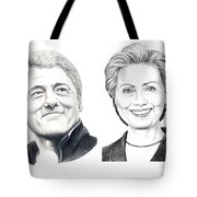 Bill And Hillary Tote Bag