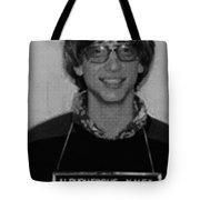 Bill Gates Mug Shot Vertical Black And White Tote Bag