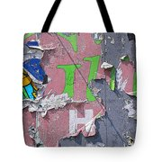 Billboard Abstract Butterfly Tote Bag