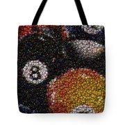 Billiard Ball Bottle Cap Mosaic Tote Bag