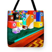 Billiard Table Tote Bag
