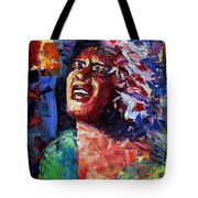 Billie Holiday Live Tote Bag
