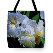 Billowing White Irises Tote Bag