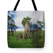 Billy Goat At The Lookout Post Tote Bag