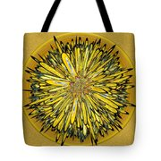 Billy Jean -- Floral Disk Tote Bag