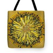 Billy Jean -- Floral Disk Tote Bag