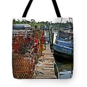 Billys Nets And Sinking Work Boat Tote Bag