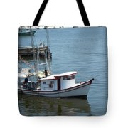 Bilouxi Shrimp Boat Tote Bag