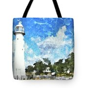 Biloxi Lighthouse Tote Bag