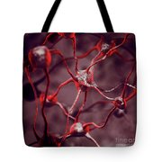 Biological Neural Network Neurons Brain Cells Scientific Medical Tote Bag