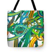 Bipolar Mania Rollercoaster Abstract Tote Bag