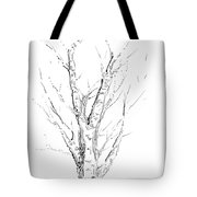 Birch Abstraction Study Tote Bag