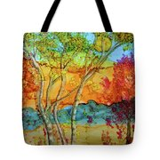 Birch And Liquid Amber Tote Bag