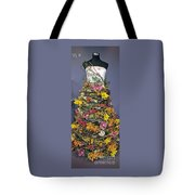 Birch And Orchid Twig Dress Exhibit Piece Tote Bag
