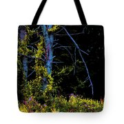 Birch And Vines Tote Bag