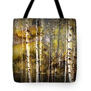 Birch Bark And Trees Abstract Tote Bag