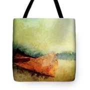 Birch Bark Canoe At Rest Tote Bag
