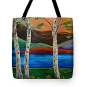Birch By The Lake Tote Bag